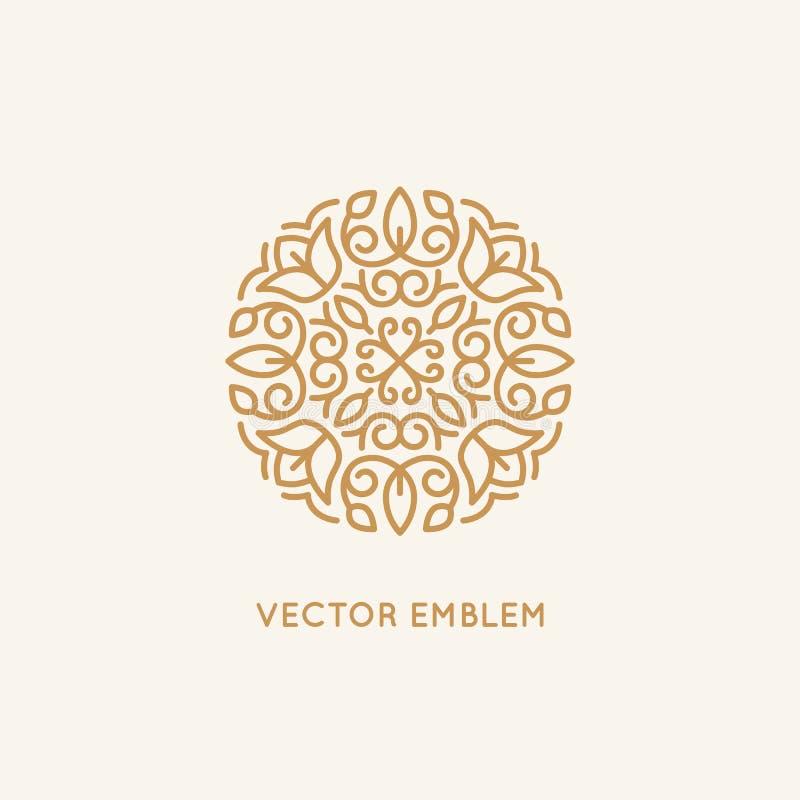 Mall för vektorlogodesign och monogrambegrepp stock illustrationer