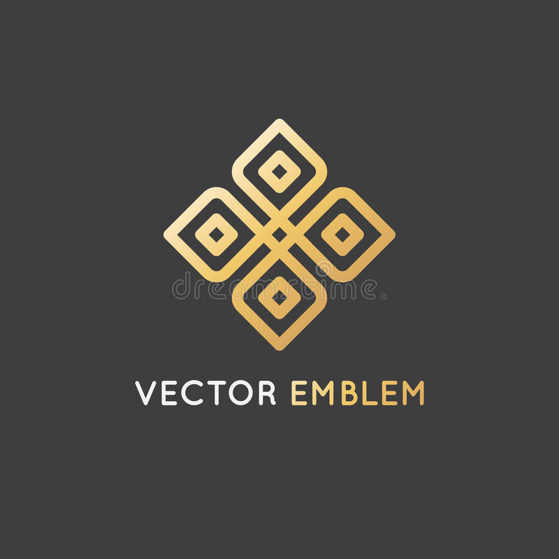 Mall för vektorlogodesign - skönhet och organiskt begrepp royaltyfri illustrationer
