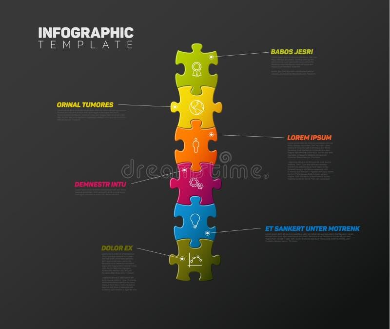 Mall för vektorpusselInfographic rapport stock illustrationer