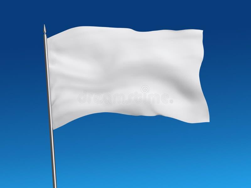 Mall för vit flagga på himmel, med den snabba banan vektor illustrationer