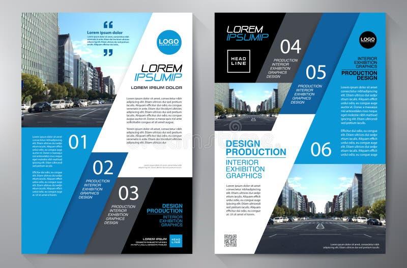 Mall f?r design a4 f?r aff?rsbroschyrreklamblad royaltyfria bilder