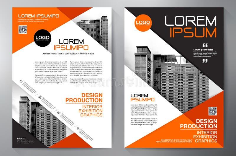 Mall f?r design a4 f?r aff?rsbroschyrreklamblad fotografering för bildbyråer