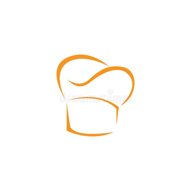 mall f?r hattkocklogo royaltyfri illustrationer