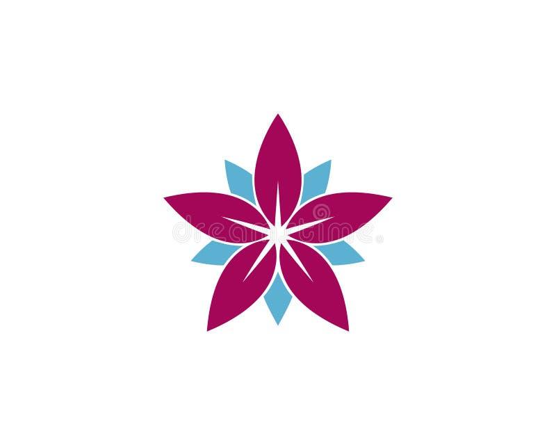 Mall f?r logo f?r design f?r sk?nhetvektorblommor royaltyfri illustrationer