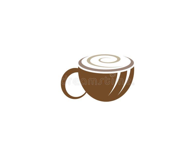 Mall f?r logo f?r kaffekopp stock illustrationer