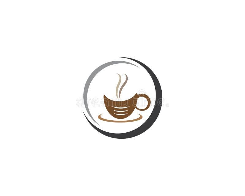 Mall f?r logo f?r kaffekopp vektor illustrationer