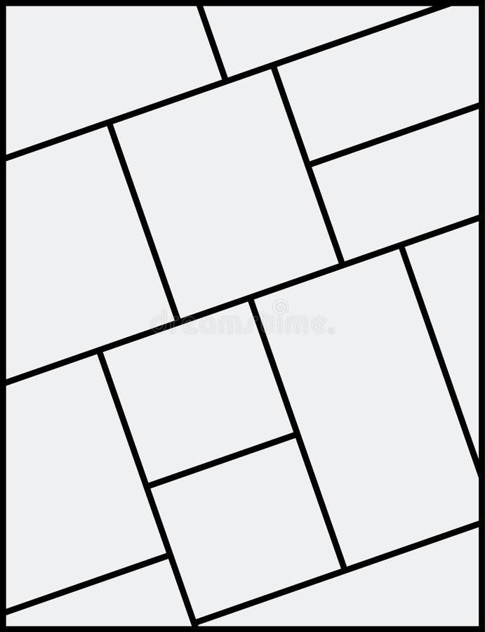 Mall f?r ram f?r montagecollagefoto Design f?r affisch f?r montage f?r bildbildbakgrund royaltyfri illustrationer