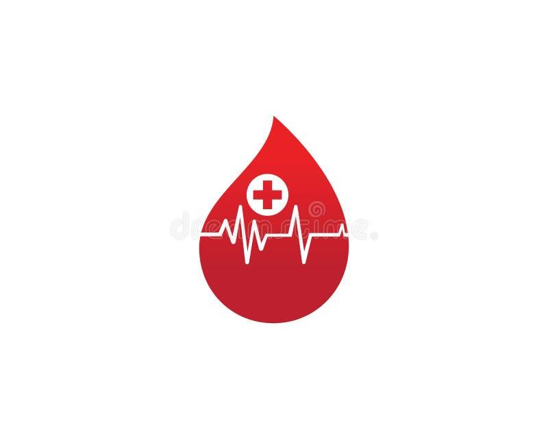 Mall f?r vektor f?r blodlogosymbol vektor illustrationer