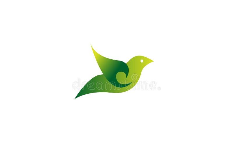 Mall f?r vektor f?r design f?r logo f?r flygf?gel abstrakt Id?rik logotypsymbol f?r f?rgrik duva vektor illustrationer
