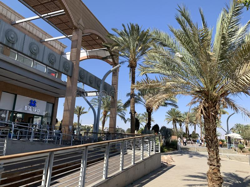 Mall Hayam Eilat. EILAT, ISRAEL - MARCH 06, 2019: Mall Hayam Eilat on the waterfront royalty free stock image