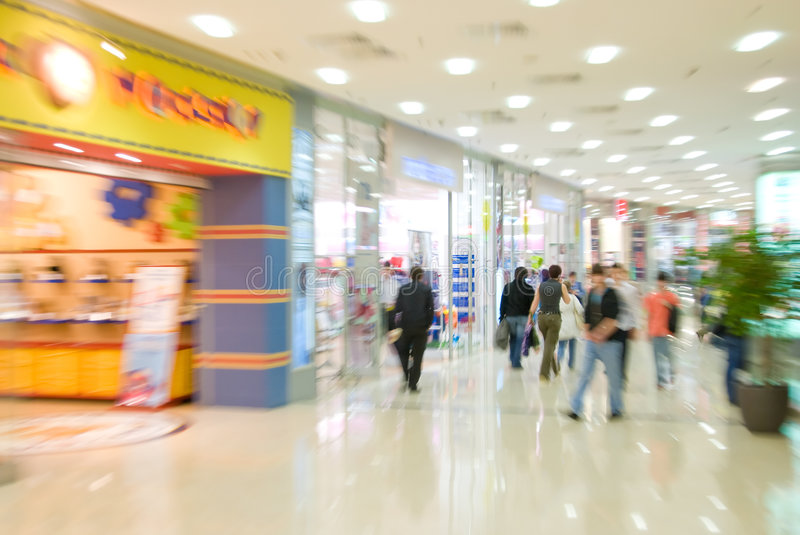Download Mall interior stock photo. Image of motion, centre, megamall - 5651734