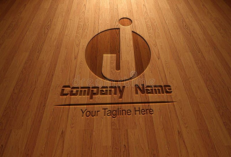 Mall Logo Letter J och cirkelobjekt stock illustrationer