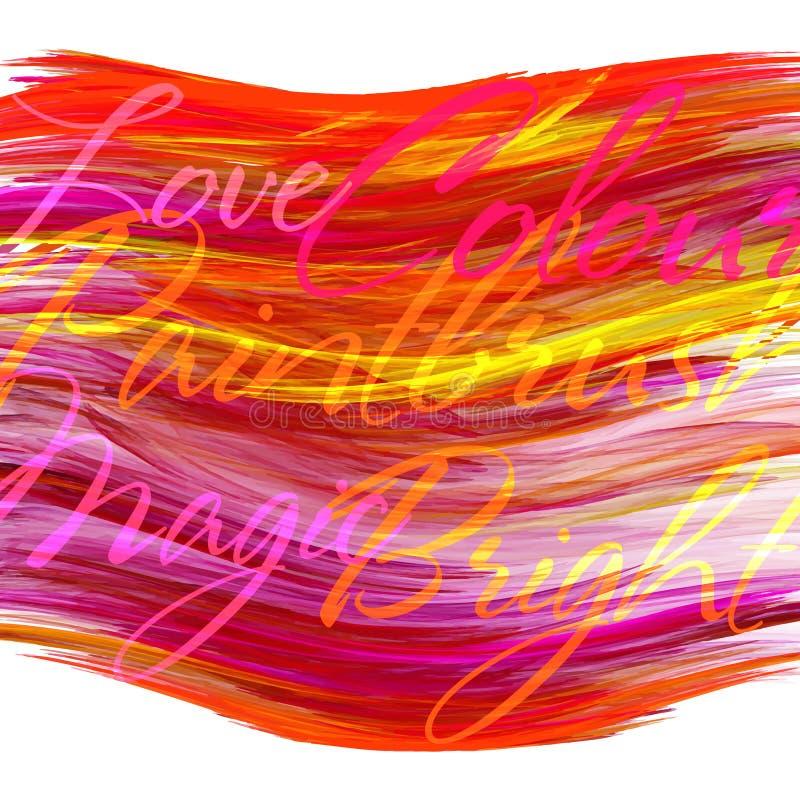 Mall med den ljust röda kluddet vektor illustrationer