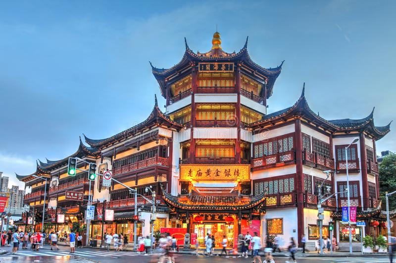 Mall in Old Shangai, China stock images