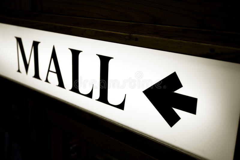 Download Mall sign stock image. Image of direction, arrow, white - 21509929