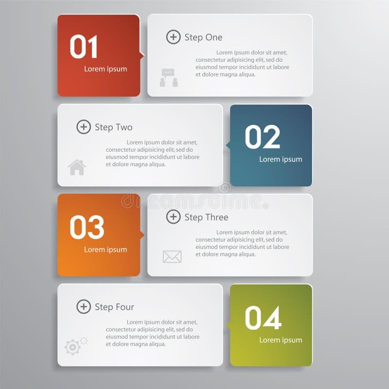 Mall/timeline för baner för designrengöringnummer. royaltyfri illustrationer