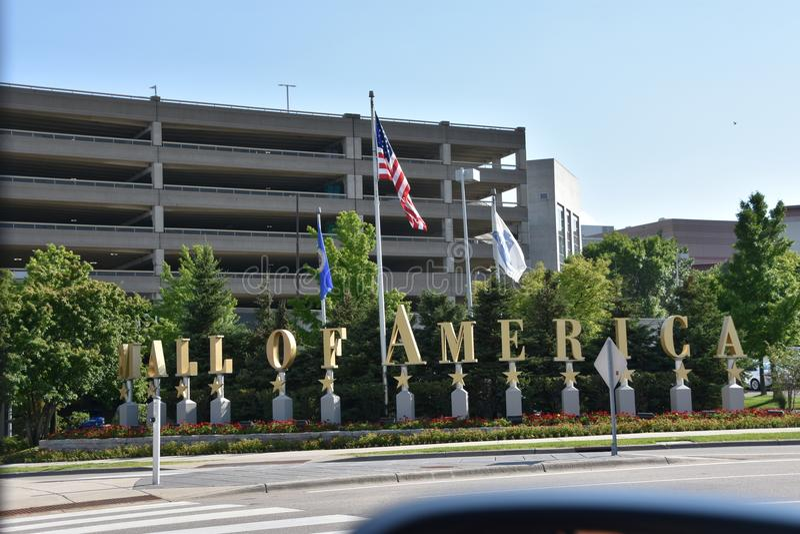 Mall von Amerika in Bloomington, Minnesota lizenzfreies stockbild