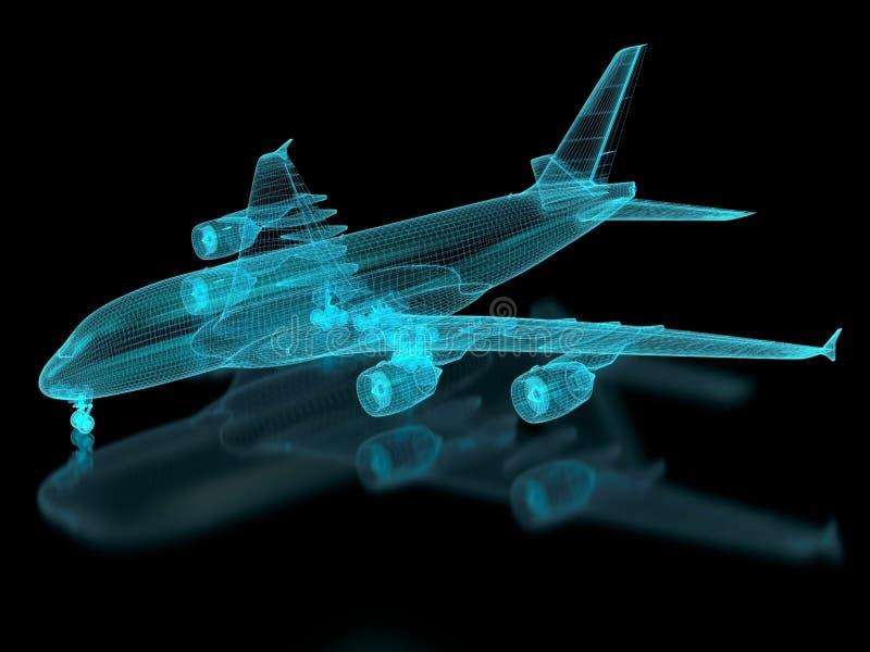 Malla de los aviones comerciales ilustración del vector