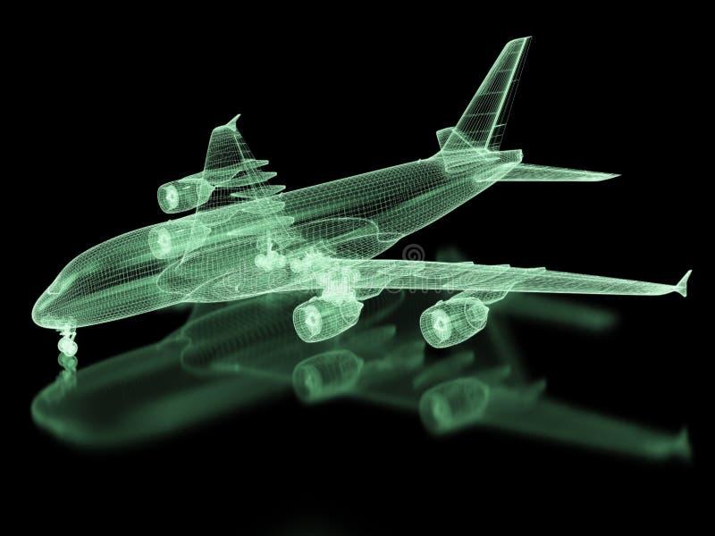 Malla de los aviones comerciales libre illustration