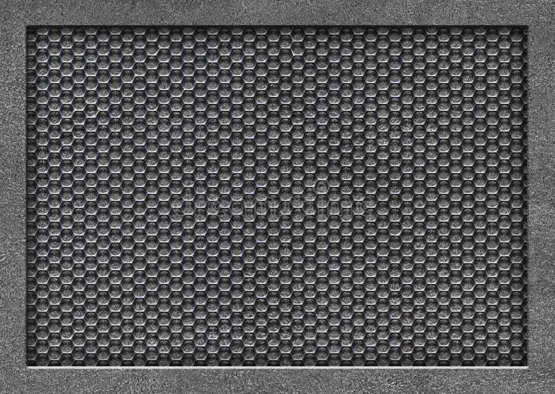 Malla metálica, primer perforado de la textura del hierro Fondo para el DES ilustración del vector