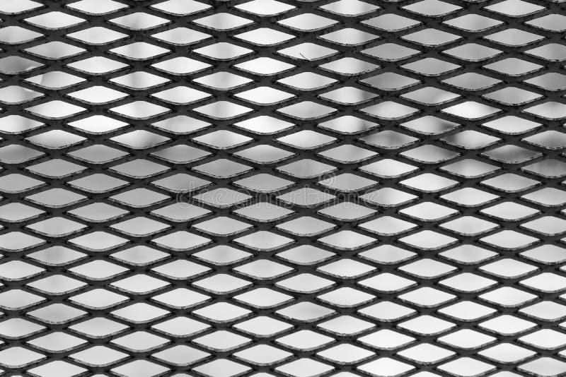Malla met?lica negra Marco horizontal imagenes de archivo