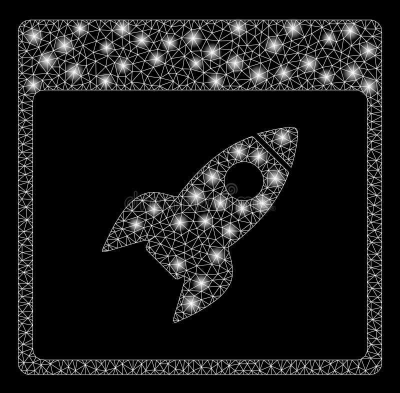 Malla 2.o Rocket Calendar Page de la llamarada con los puntos de la llamarada foto de archivo libre de regalías