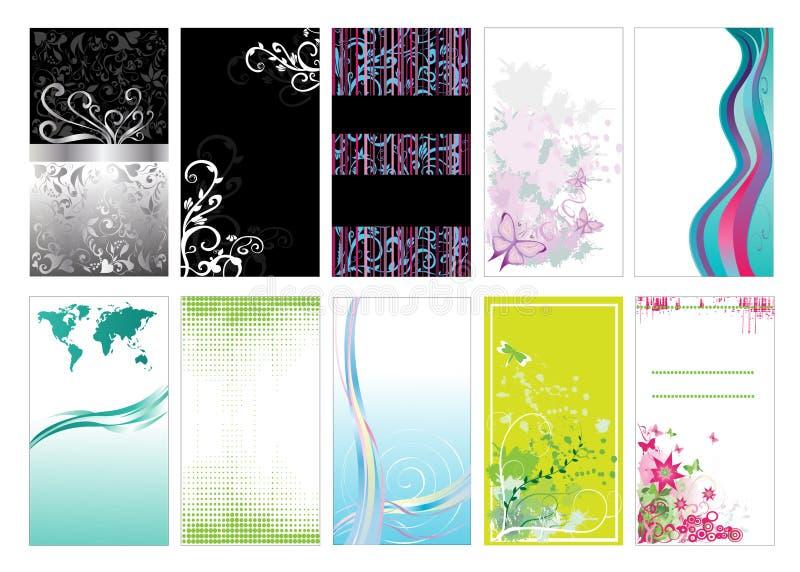 mallar för affärskort royaltyfri illustrationer