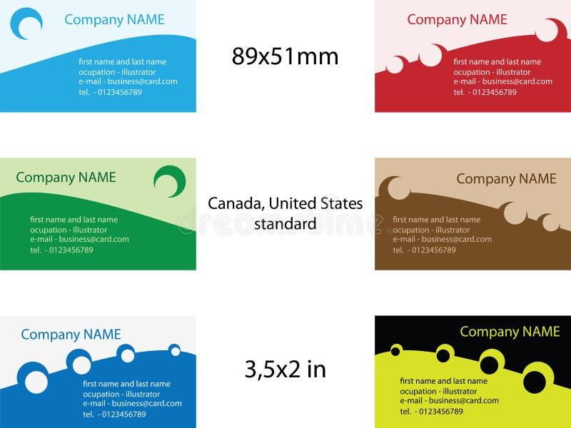 mallar för affärskort vektor illustrationer