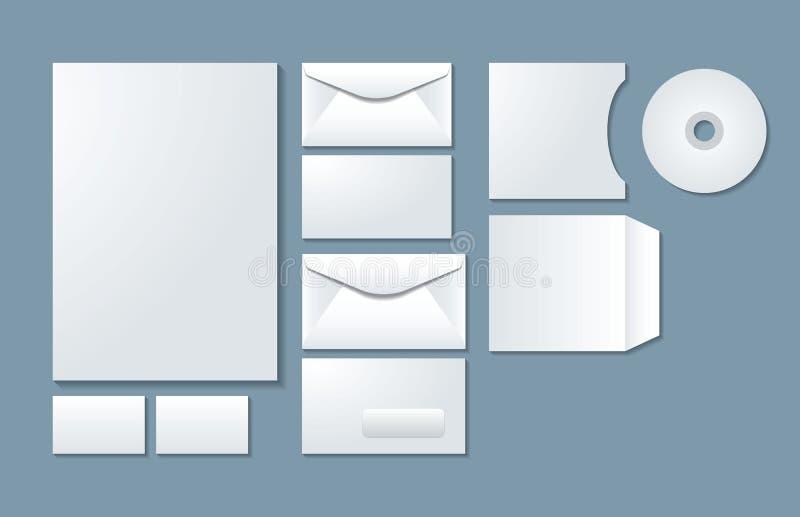 Mallar 01 för företags identitet vektor illustrationer