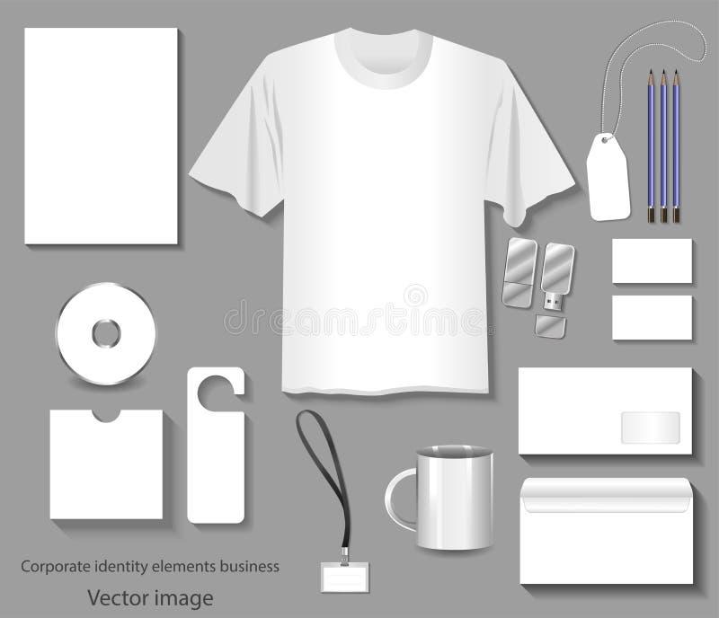 Mallar för företags identitet avbildar vektor illustrationer