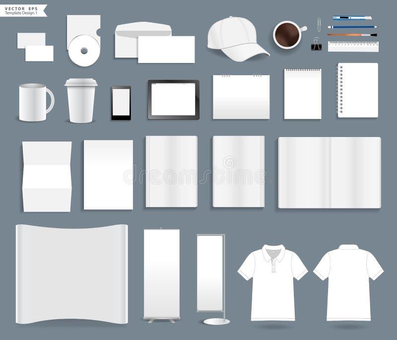 Mallar för företags identitet för vektor vektor illustrationer