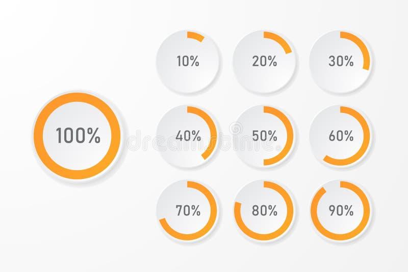 Mallar för Infographic pajdiagram royaltyfri illustrationer