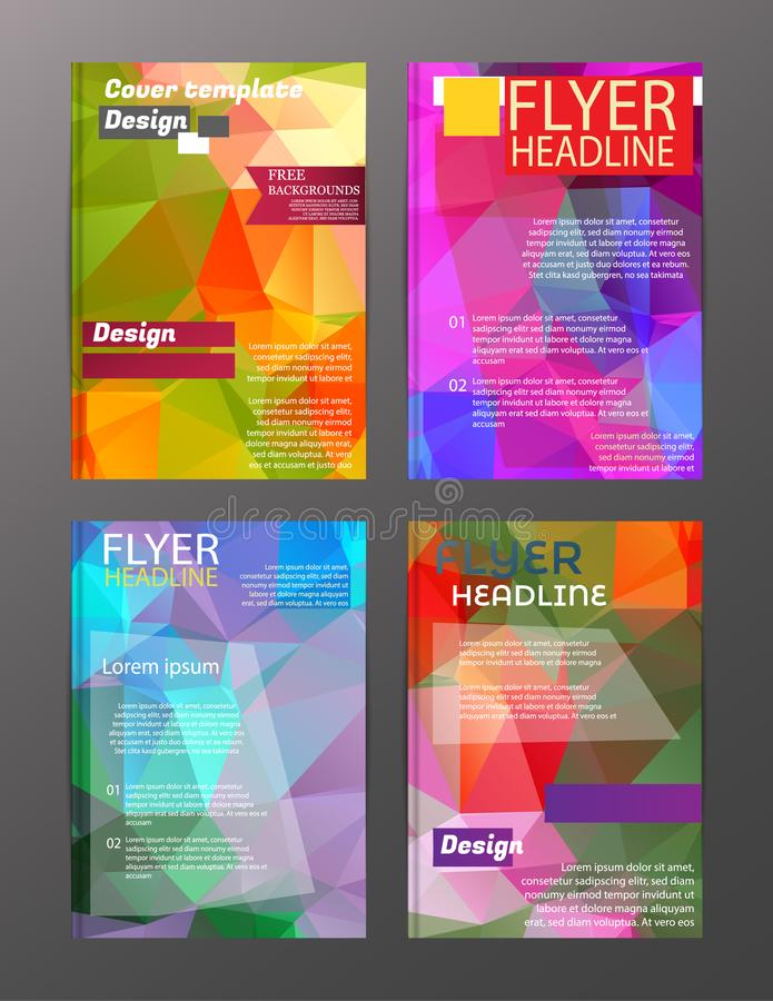 Mallar för orientering för design för vektorbroschyrreklamblad Abstrakt begrepp royaltyfri illustrationer