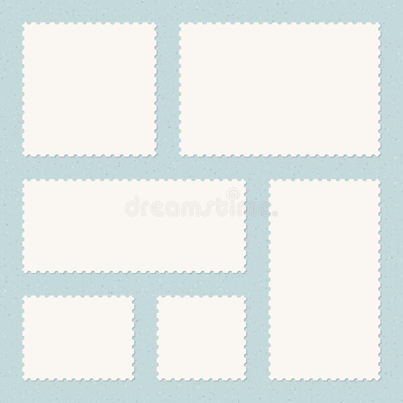 Mallar för portostämplar royaltyfri illustrationer