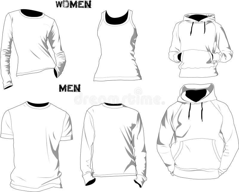 mallar för skjorta t royaltyfri illustrationer