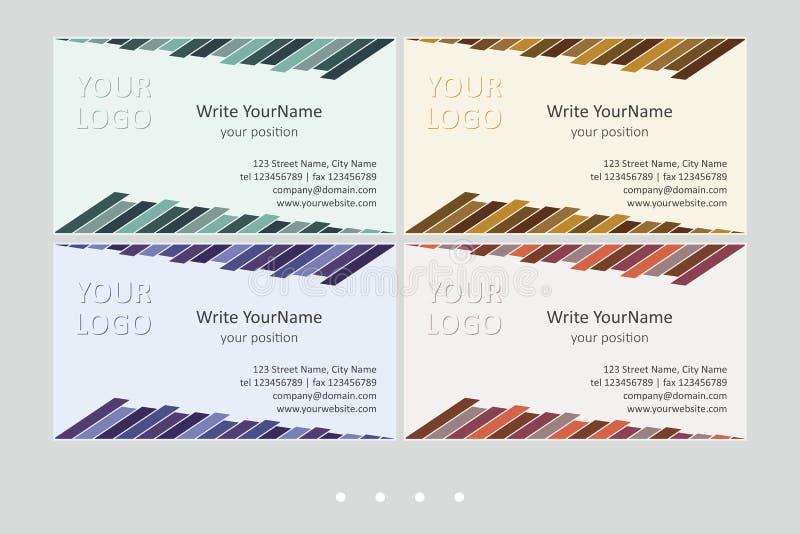 Mallar för vektor för Minimalistic affärskort Universell geometrisk design med den livliga brytningen - precis ställe din text I  stock illustrationer