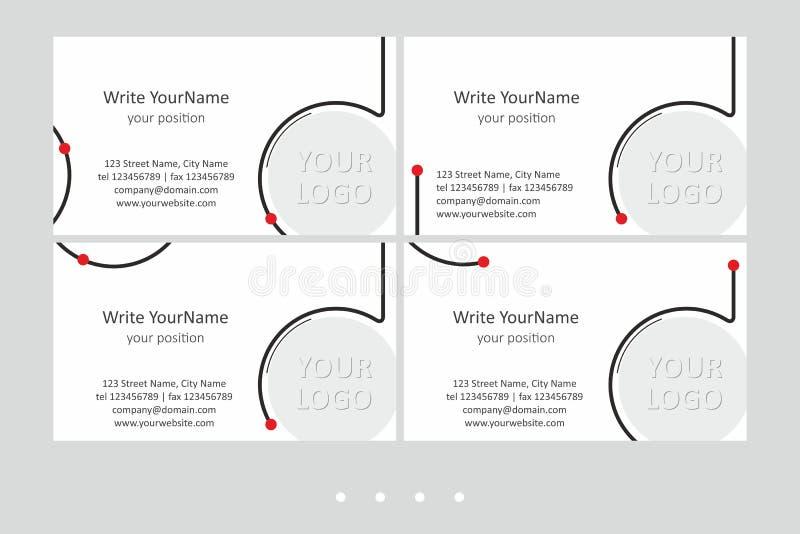 Mallar för vektor för Minimalistic affärskort Universell geometrisk design med den ljusa brytningen - precis ställe din text stock illustrationer