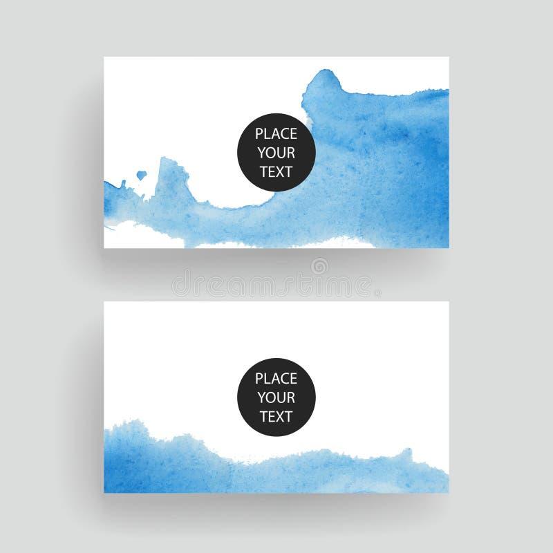 Mallar för vektoraffärskort royaltyfria bilder
