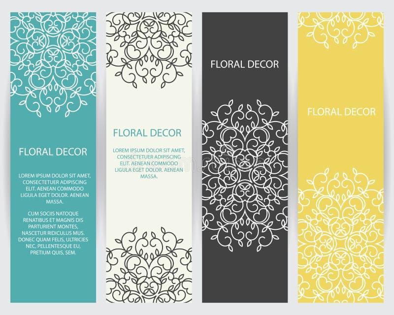 Download Mallar För Vektordesignbeståndsdel Vektor Illustrationer - Illustration av packe, etikett: 78725545