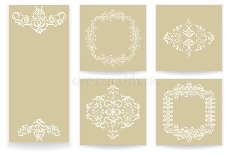Mallar med den stiliserade modelluppsättningen vektor illustrationer