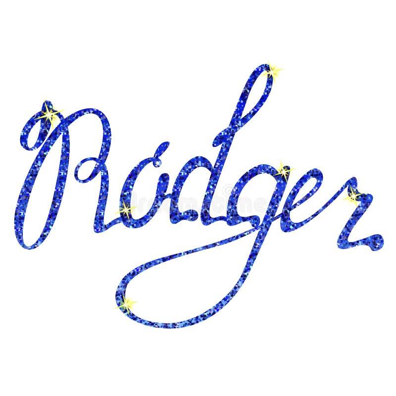 Mallas de las letras del nombre de Rodger libre illustration
