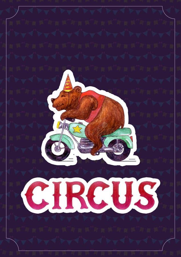 Malldesign för cirkusteateraffisch arkivbild