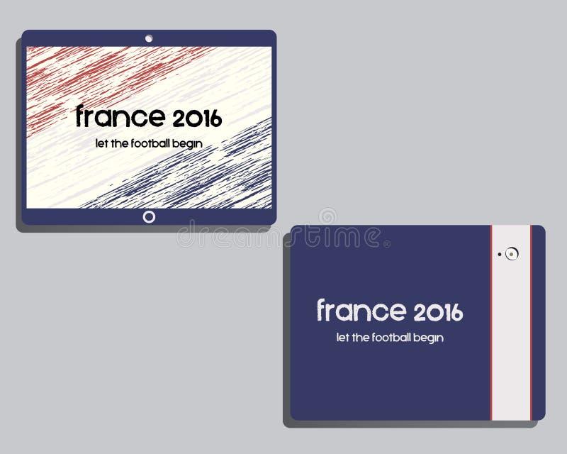 Malldesign för företags identitet Frankrike 2016 royaltyfri illustrationer