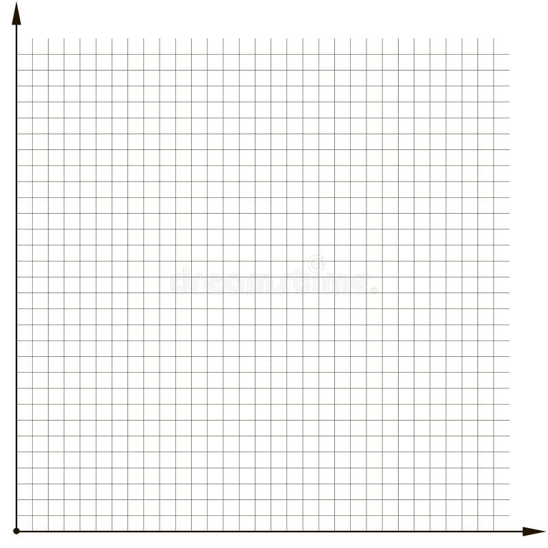 Malldiagram för koordinerat raster som analyserar diagrammet royaltyfri illustrationer