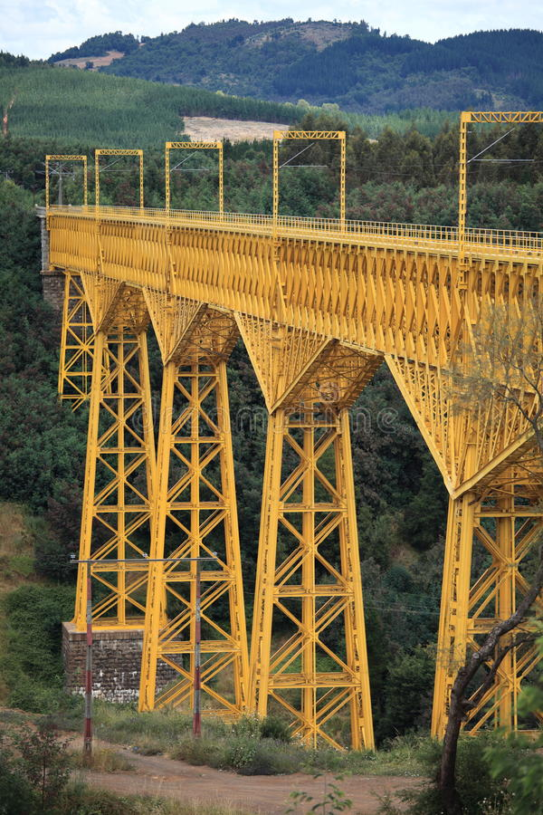 Mallecoviaduct, Chili royalty-vrije stock afbeelding