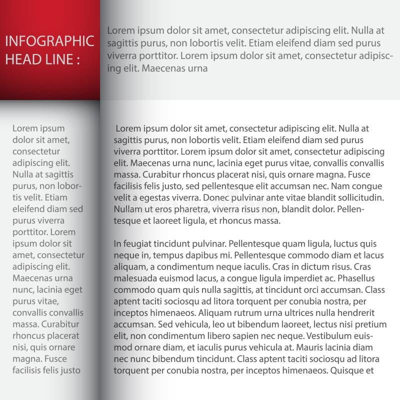 Mallen för den moderna designen/kan användas för infographics royaltyfri illustrationer