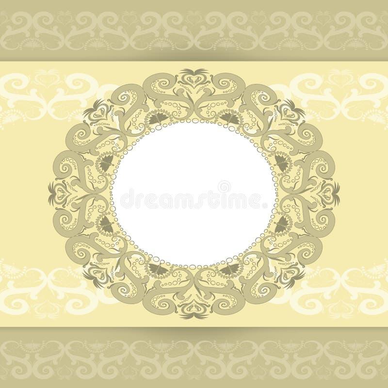 Mallen för hälsningkorten royaltyfri illustrationer