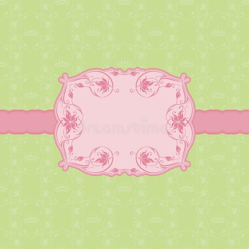 Mallen inramar designen för hälsningskort. royaltyfri illustrationer