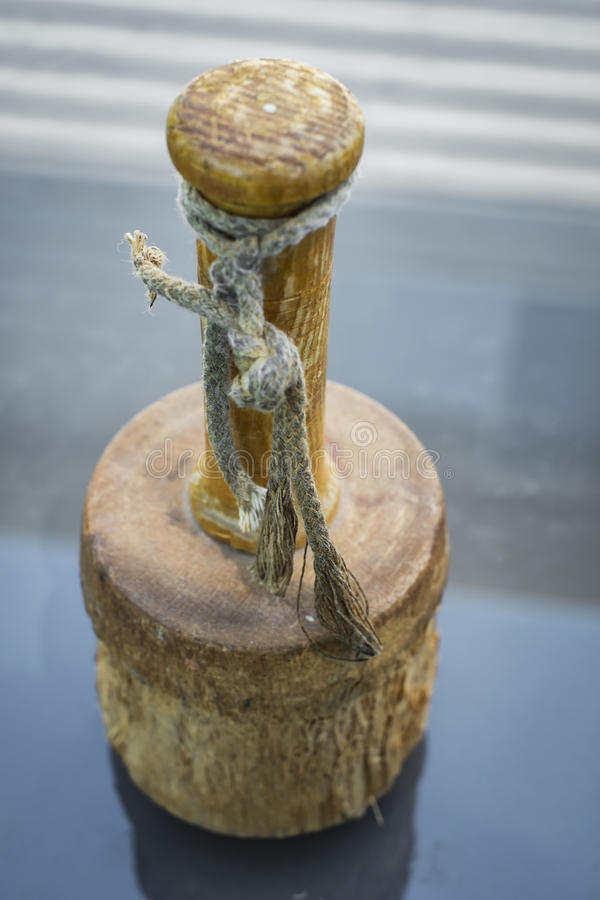 Mallet. Sculptor tool on a glass table royalty free stock photos