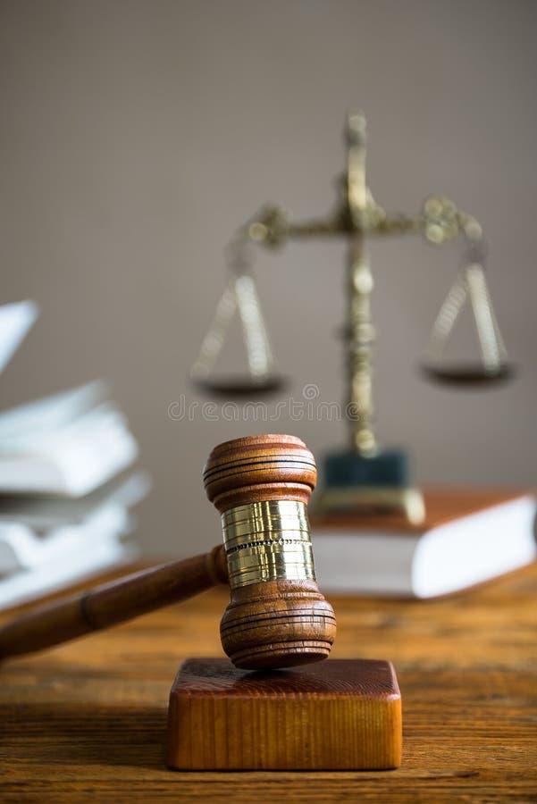 Mallet van de rechter Het strafrecht royalty-vrije stock fotografie
